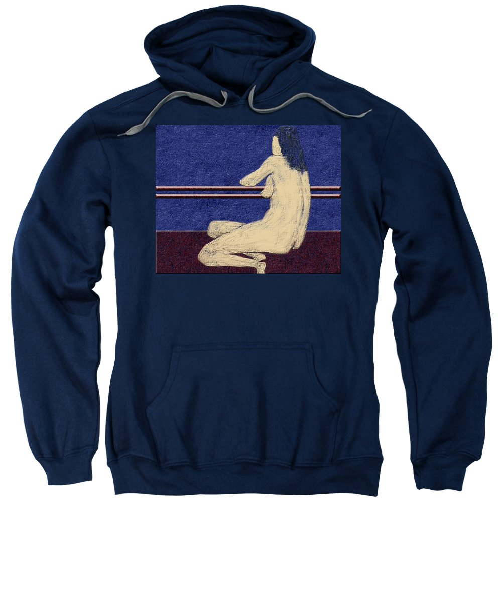 Figurative Sweatshirt featuring the digital art 0452 Figurative Art by Chowdary V Arikatla