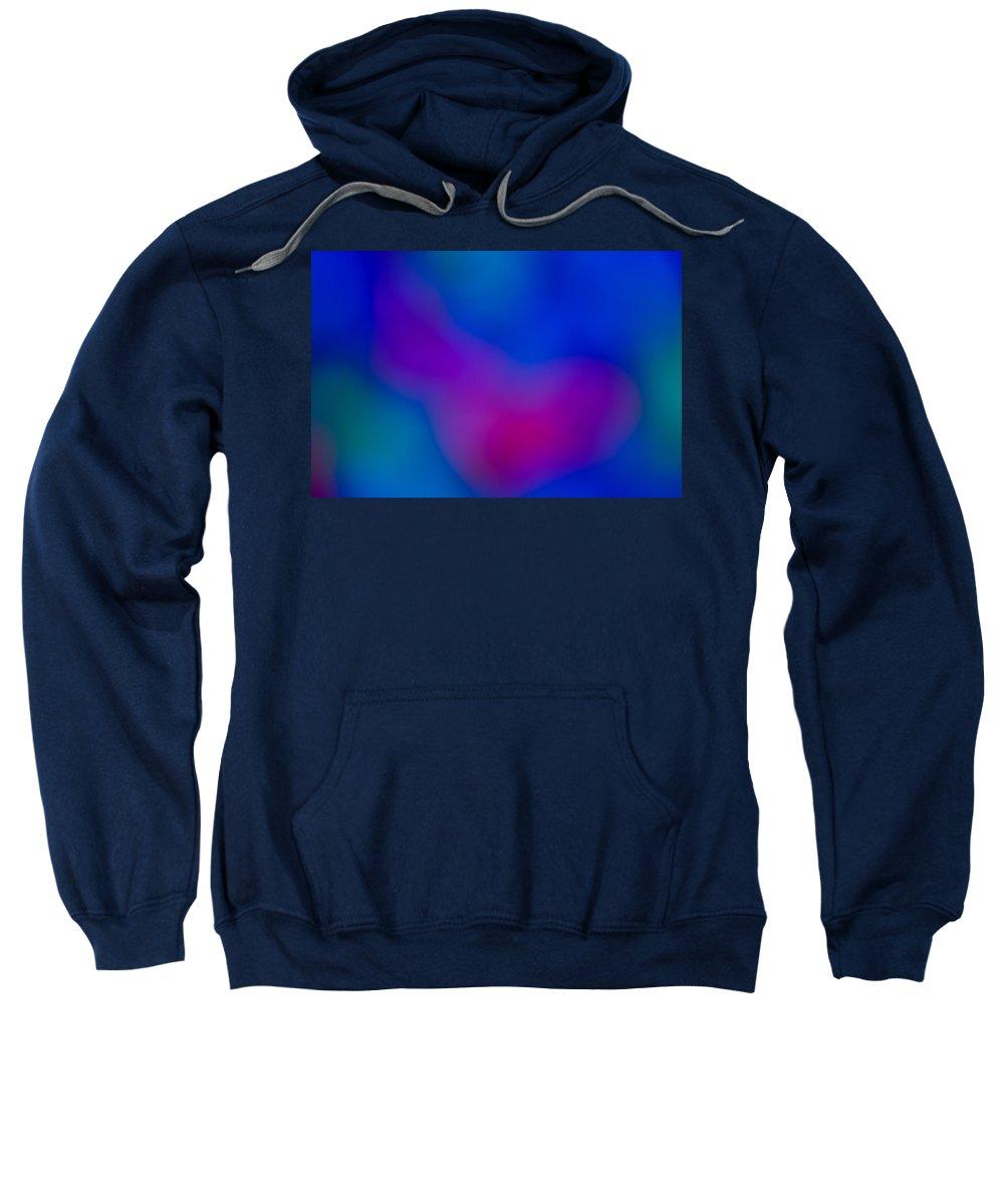 Negative Sweatshirt featuring the digital art Abstract Focus Art by David Pyatt