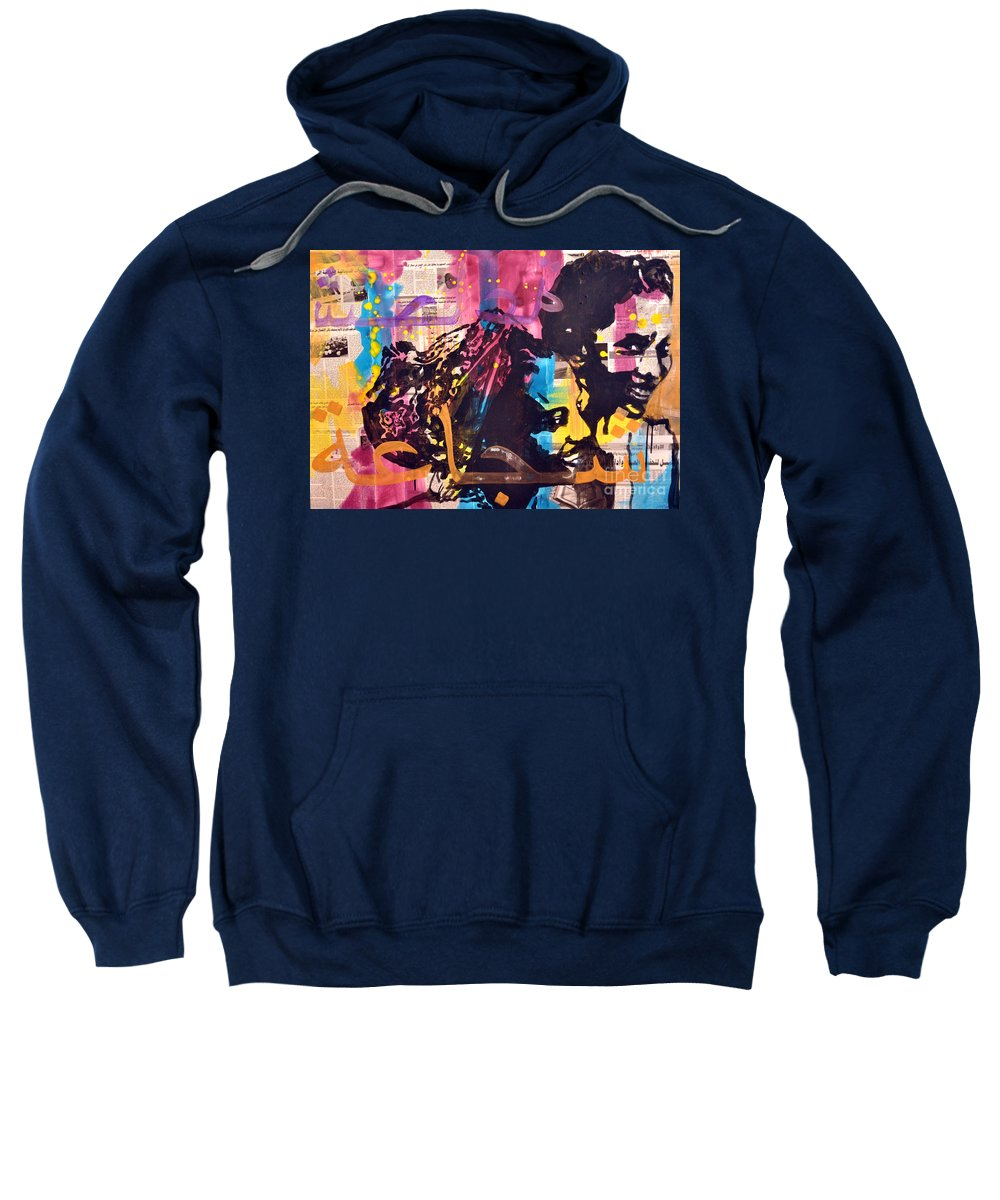 Women Sweatshirt featuring the painting Brave... by Martina Anagnostou