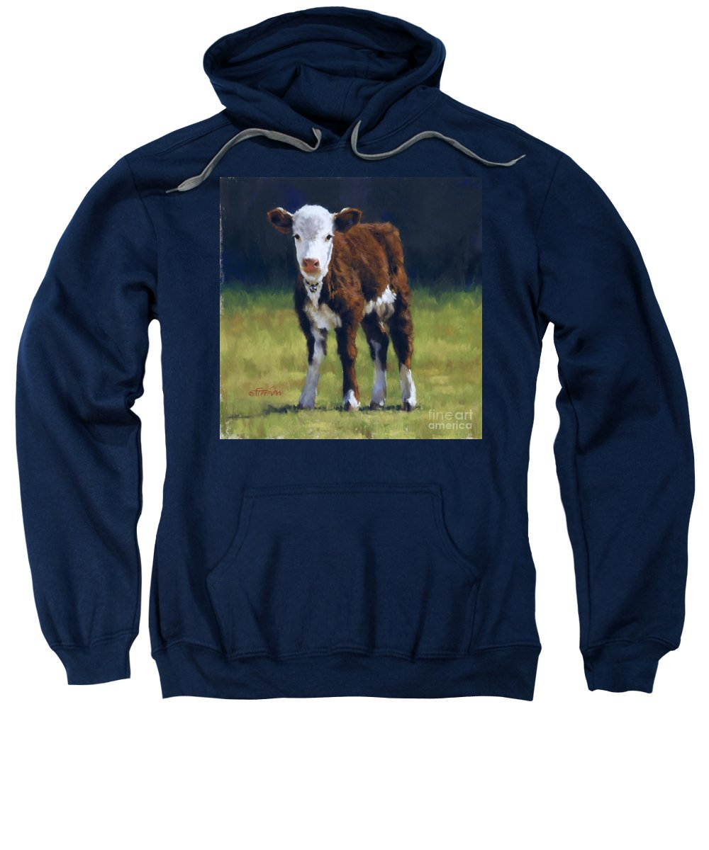 Cow Sweatshirt featuring the pastel Butterball by Brian Freeman