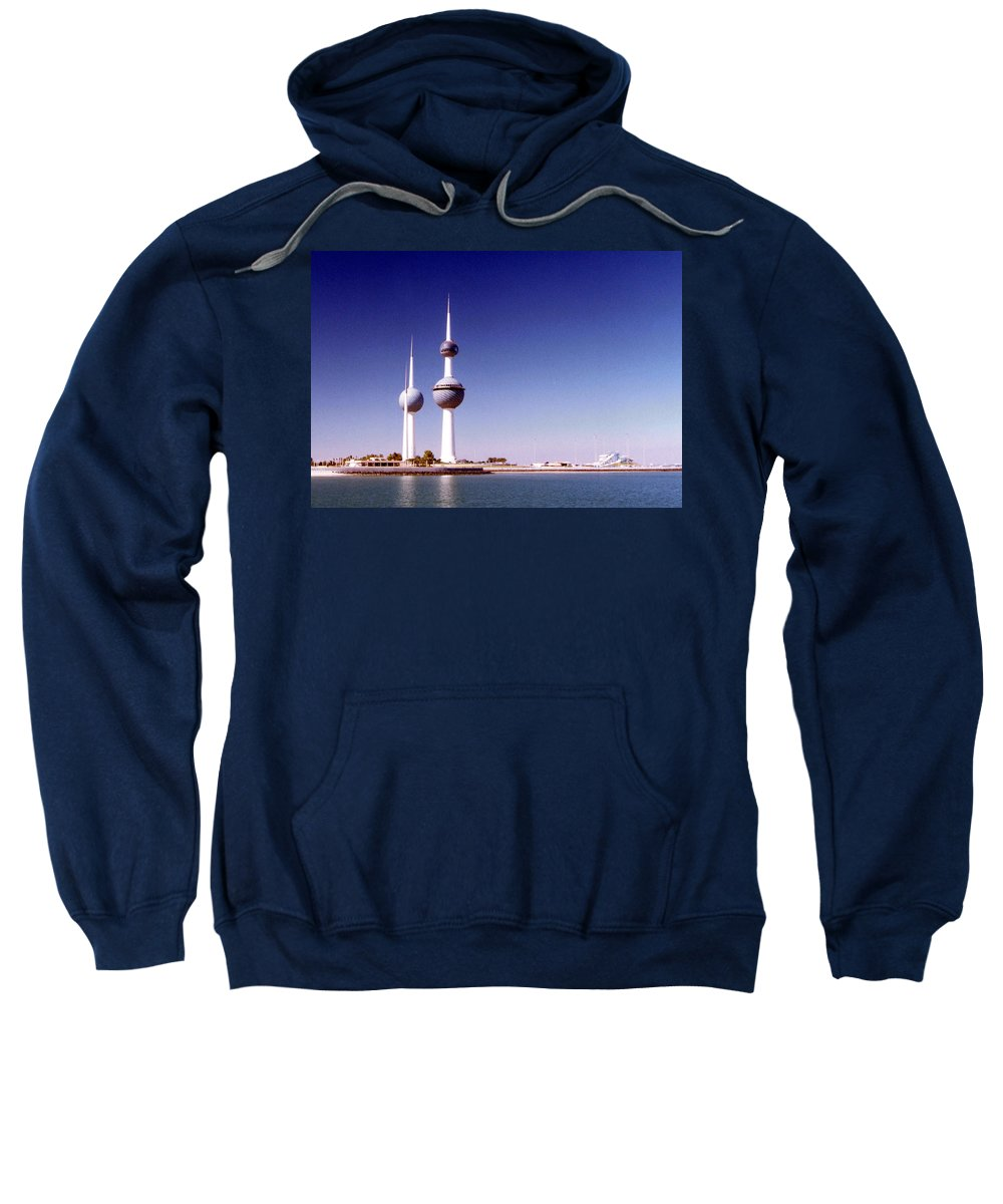 Kuwait Sweatshirt featuring the photograph Kuwait Towers by Floyd Menezes