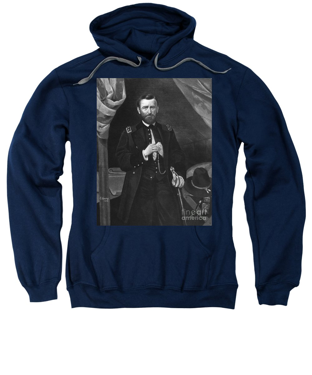 19th Century Sweatshirt featuring the photograph Ulysses S. Grant by Granger