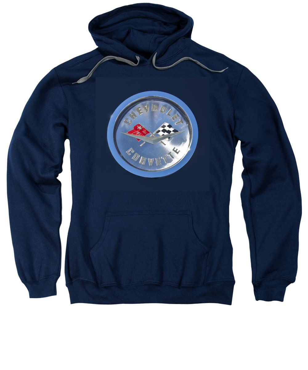 1959 Chevrolet Corvette Sweatshirt featuring the photograph 1959 Chevrolet Corvette Emblem by Jill Reger