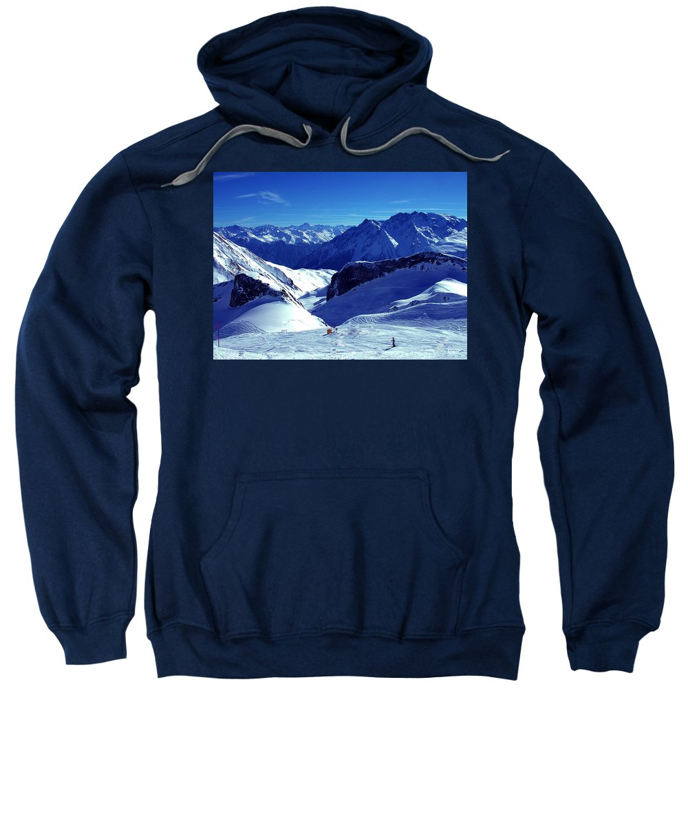 Colette Sweatshirt featuring the photograph Austria Mountain by Colette V Hera Guggenheim