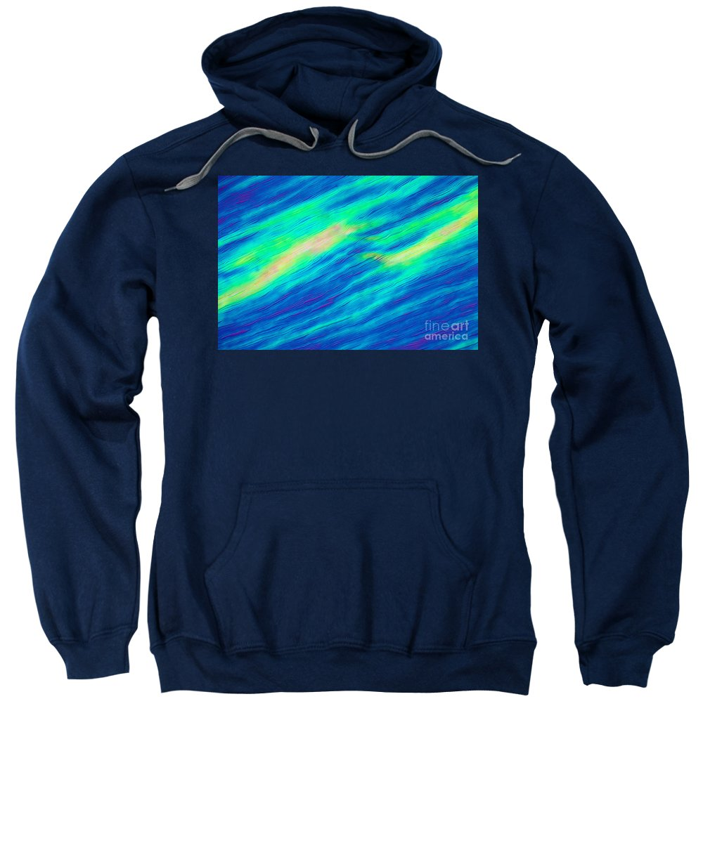Science Sweatshirt featuring the photograph Cholesteric Liquid Crystals by Michael Abbey and Photo Researchers
