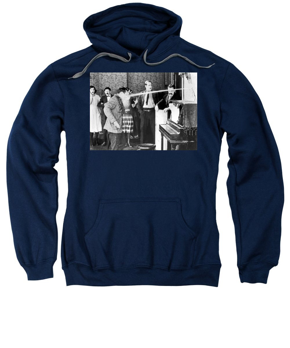-firefighting- Sweatshirt featuring the photograph Silent Film Still by Granger