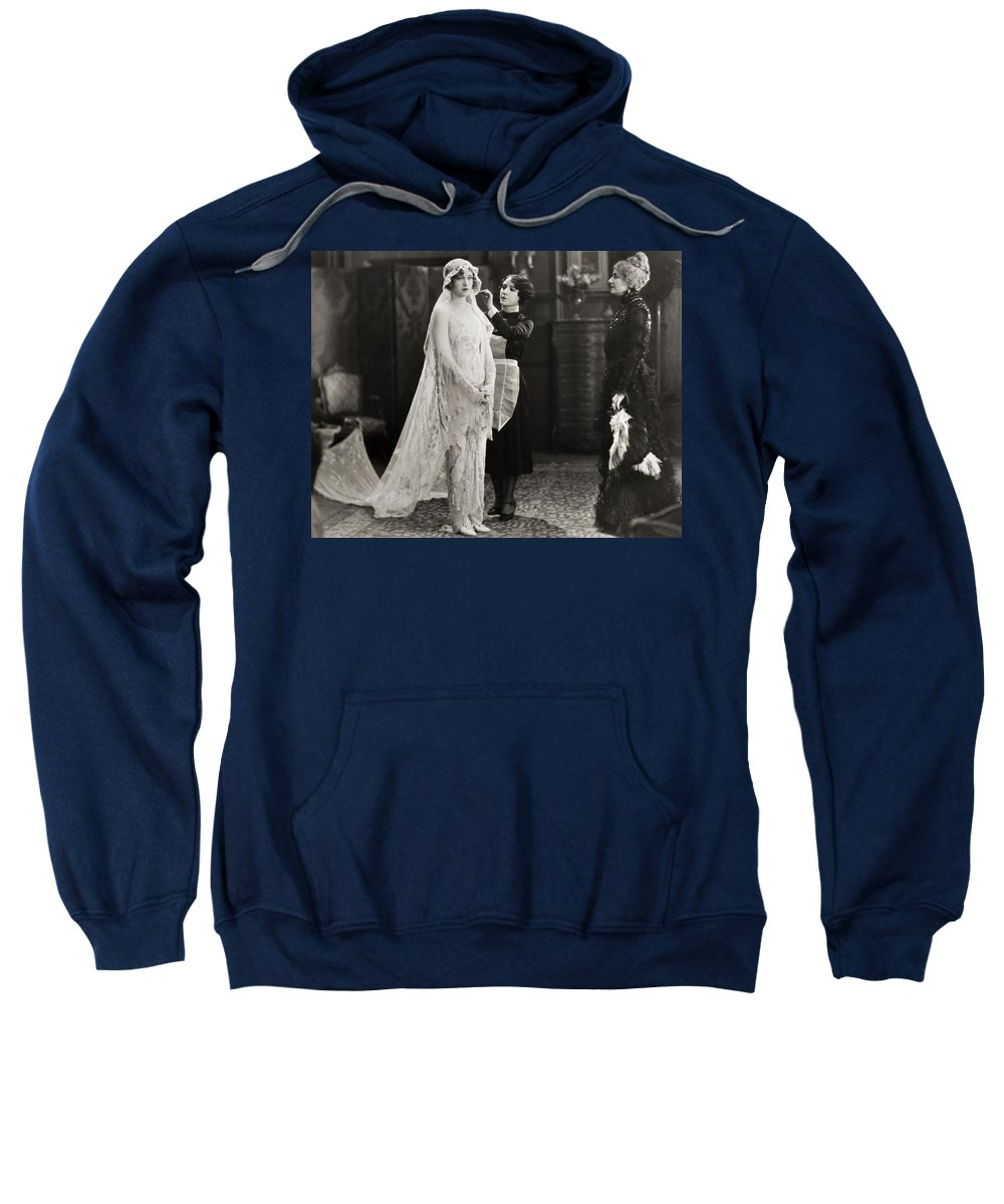 -weddings & Gowns- Sweatshirt featuring the photograph Silent Film Still: Wedding by Granger