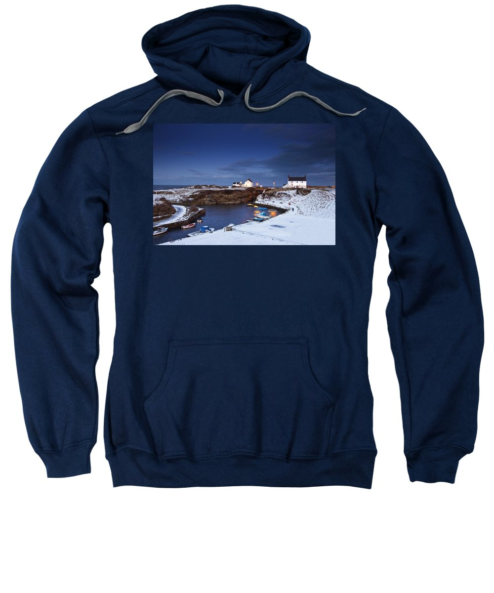 Northumberland Sweatshirt featuring the photograph A Village On The Coast Seaton Sluice by John Short