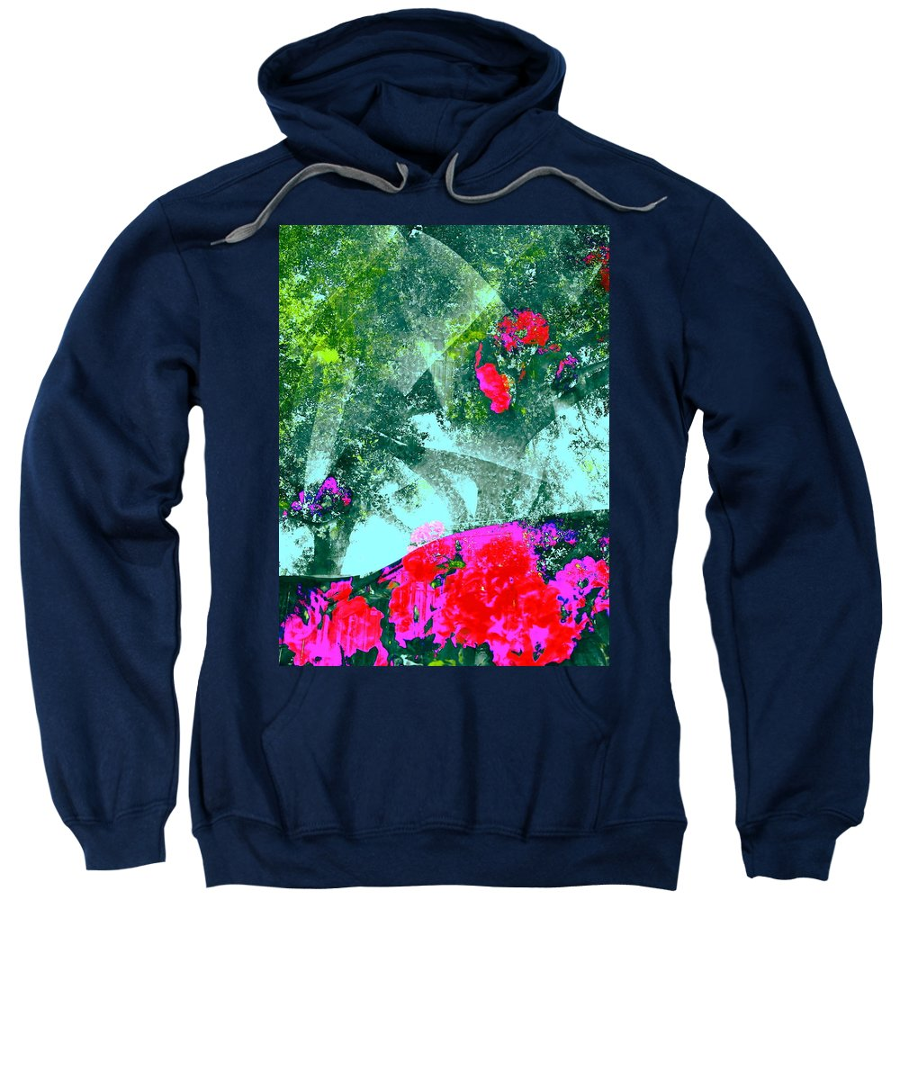 Abstract Sweatshirt featuring the photograph Abstract 127 by Pamela Cooper