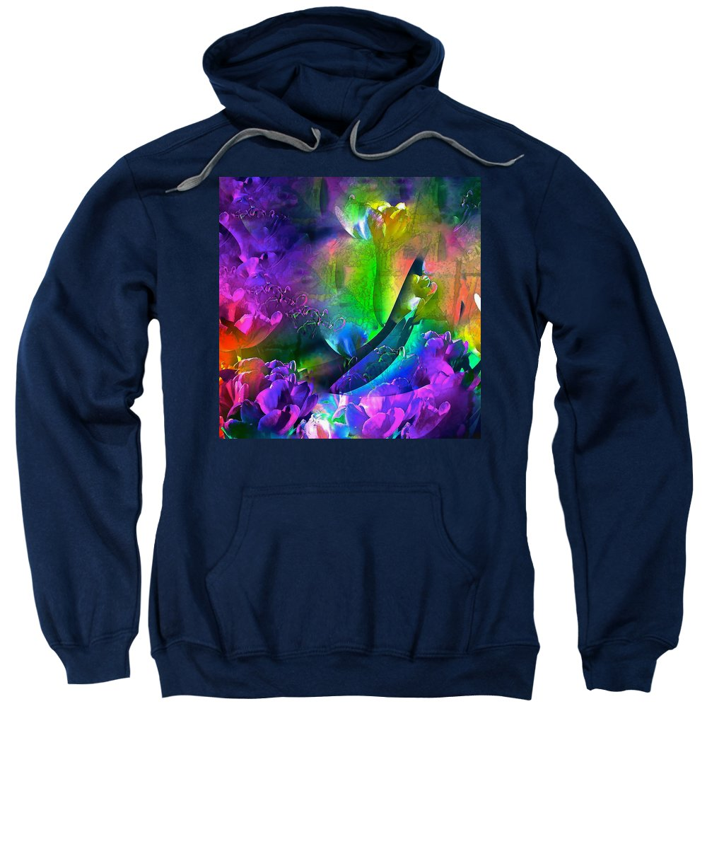 Abstract Sweatshirt featuring the photograph Abstract 255 by Pamela Cooper