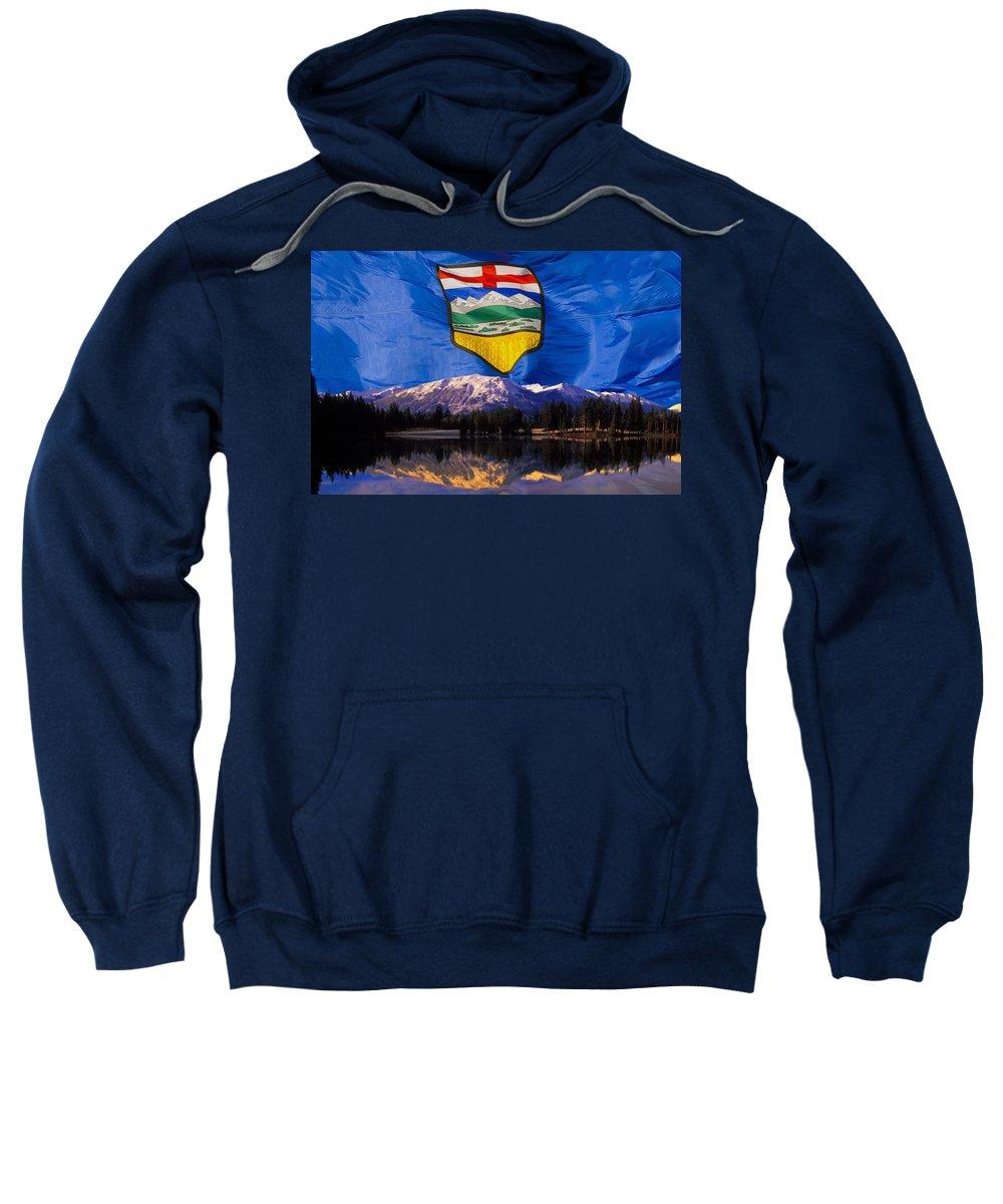 Horizon Sweatshirt featuring the photograph Albertas Rocky Mountains by Corey Hochachka