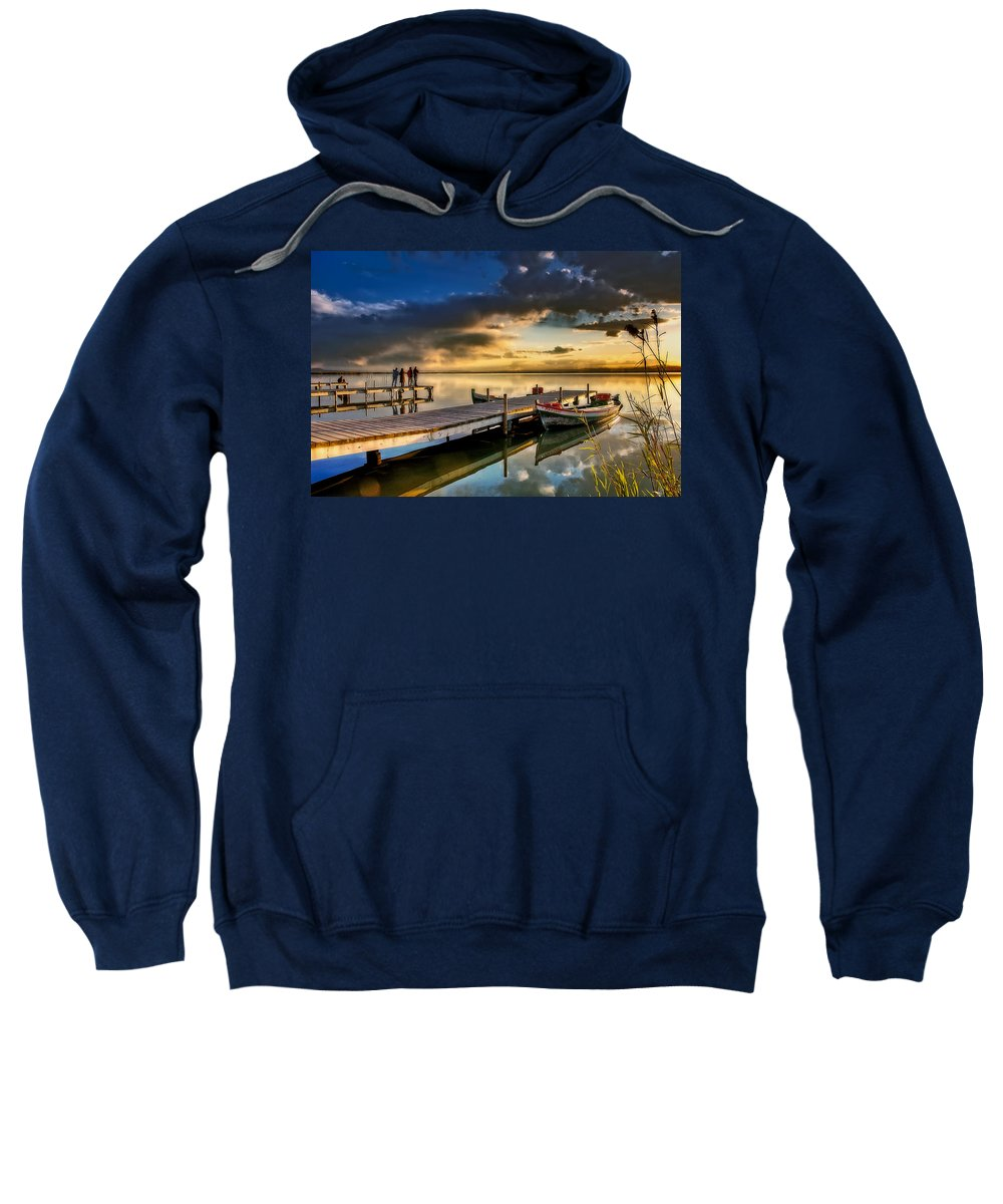 La Albufera Lagoon Sweatshirt featuring the photograph Albufera After The Rain. Valencia. Spain by Juan Carlos Ferro Duque