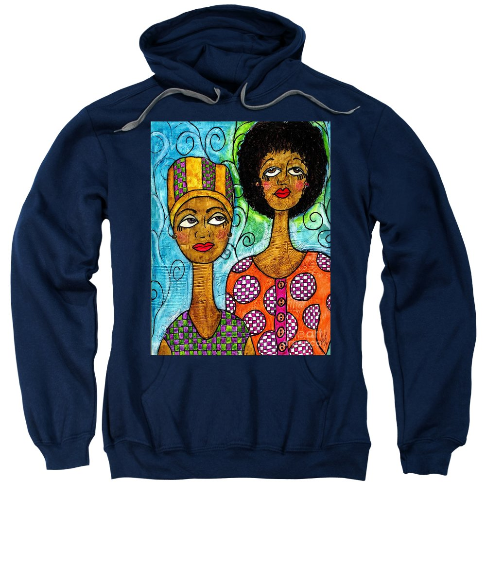 Acrylic Sweatshirt featuring the mixed media Always Here For You by Angela L Walker