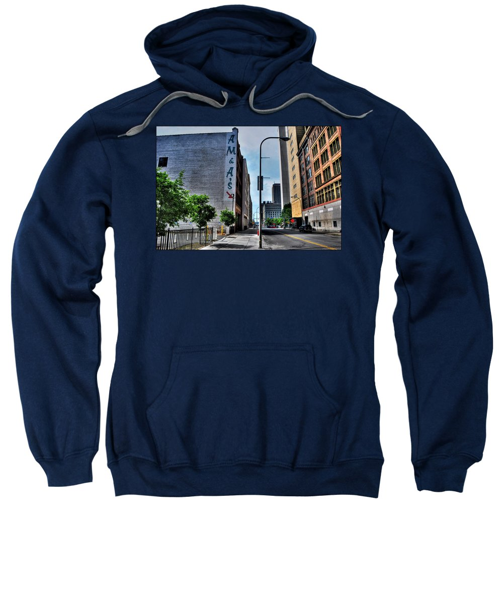 Sweatshirt featuring the photograph Am And As Downtown Buffalo by Michael Frank Jr