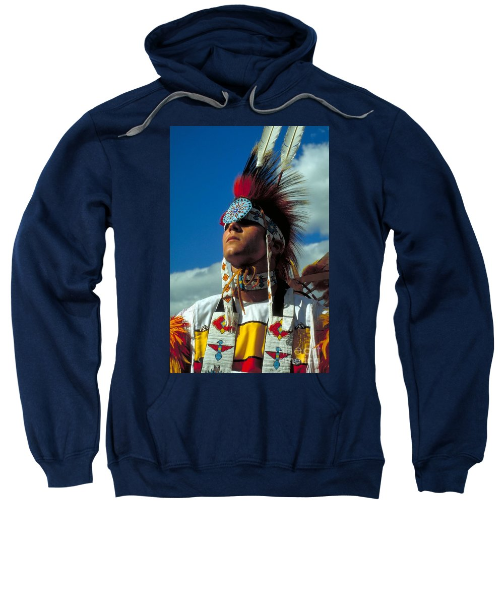 Native American Indian Sweatshirt featuring the photograph An American Indian No1 by Guy Harnett