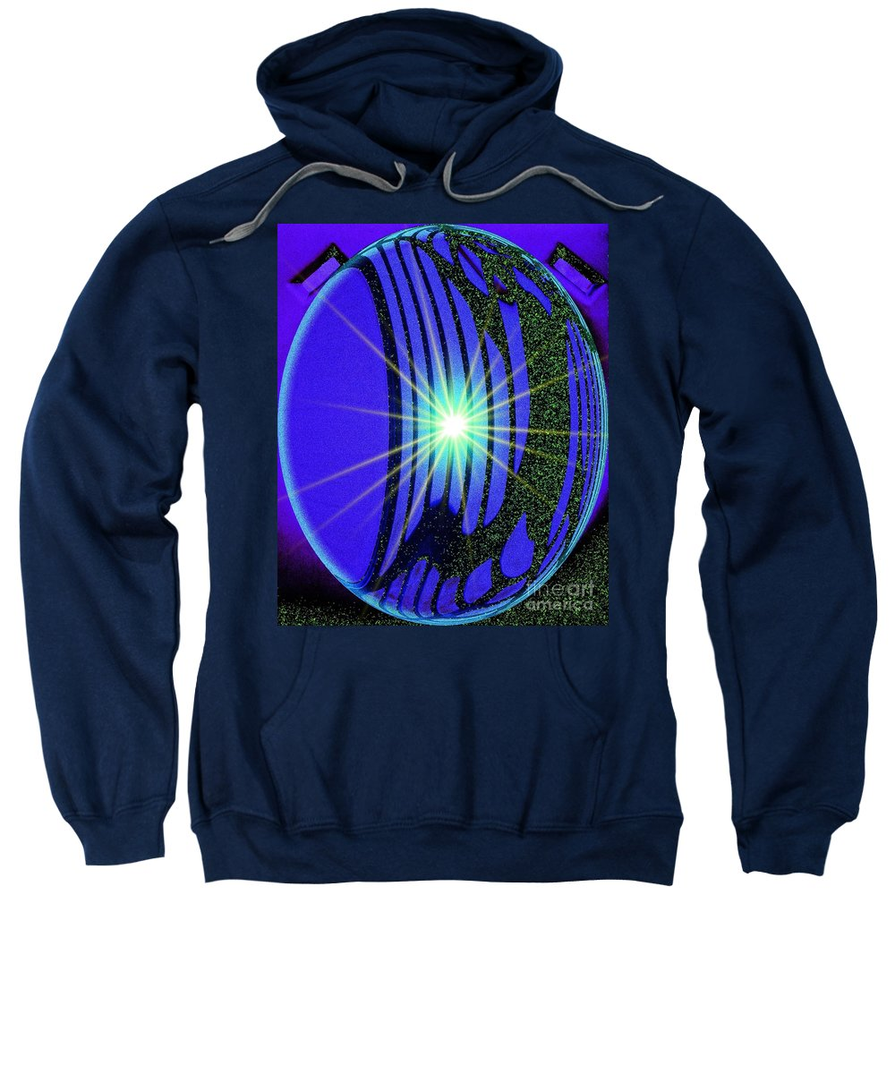 Abstract Sweatshirt featuring the photograph An Orb In Abstract 2 by Blair Stuart