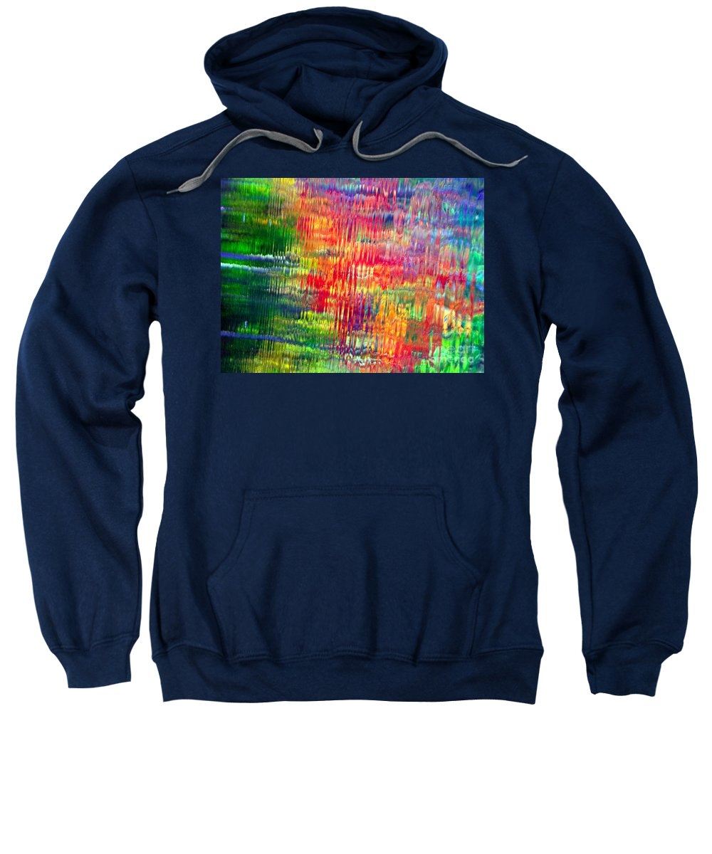Autumn Colors Sweatshirt featuring the photograph Autumn Abstarcts by Optical Playground By MP Ray