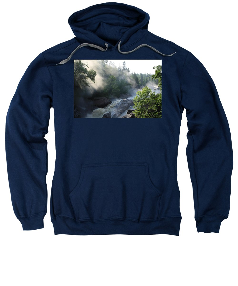 Sweatshirt featuring the photograph Beaver River Fog4 by Joi Electa