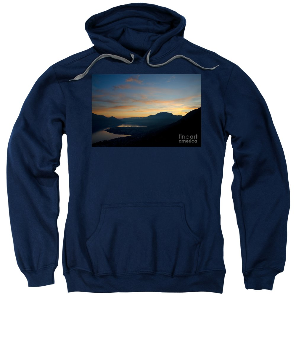 Sunset Sweatshirt featuring the photograph Blue Hour Over The Mountain by Mats Silvan