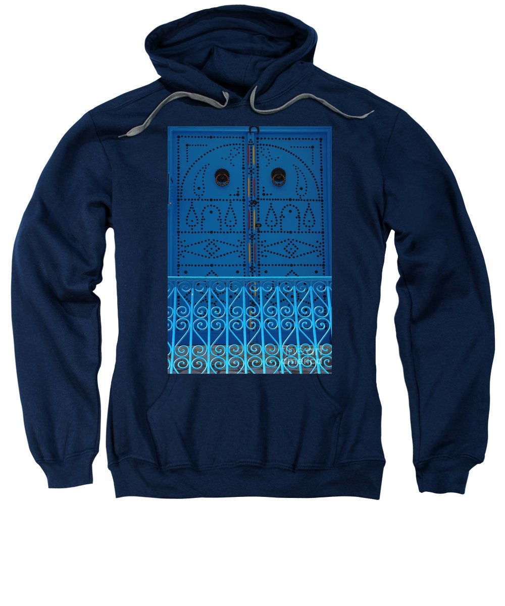 Tunisia Sweatshirt featuring the photograph Blue On Blue by Bob Christopher