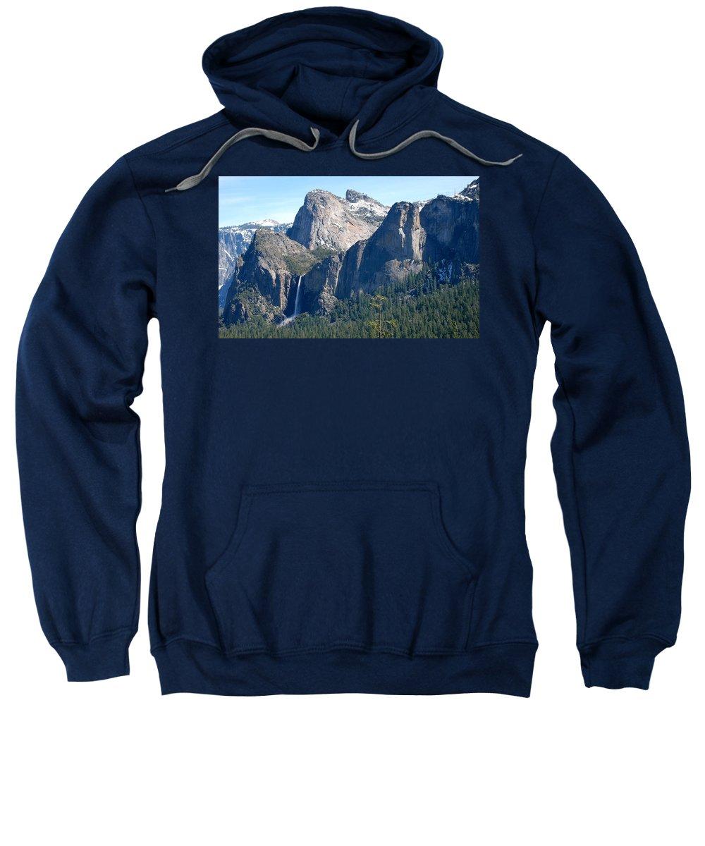 Yosemite National Park Sweatshirt featuring the photograph Bridalveil by Eric Tressler