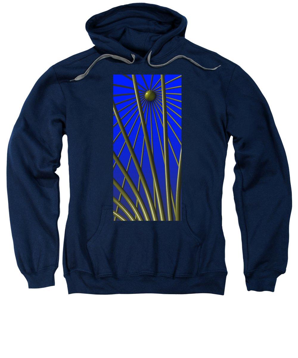 Ornamental Sweatshirt featuring the digital art Bronze Sunlight by Richard Rizzo