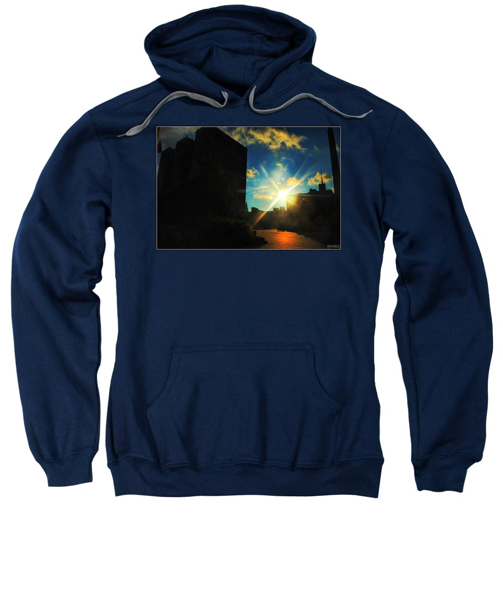 Sweatshirt featuring the photograph Buffalo Ny Awakening by Michael Frank Jr