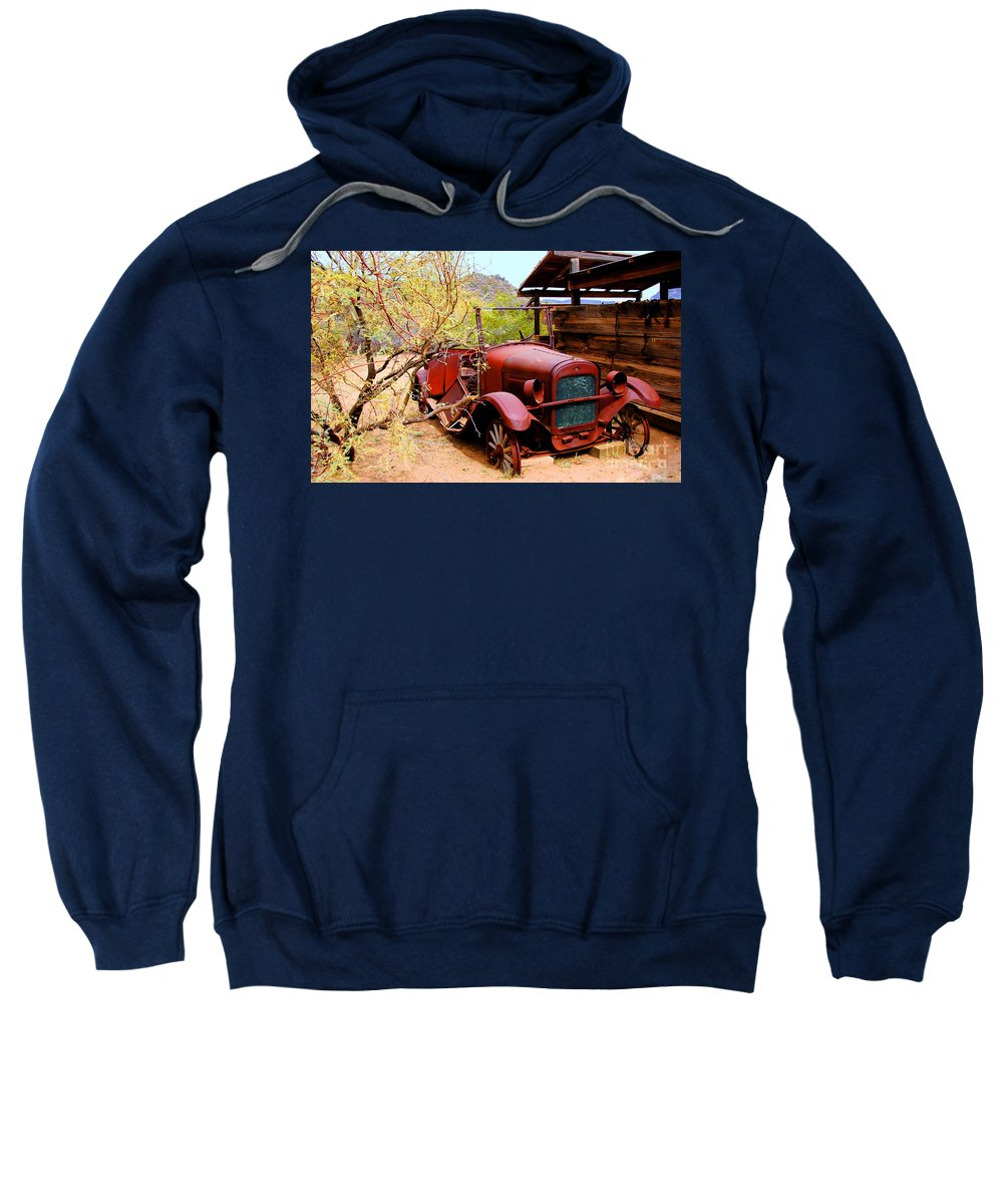 Canyon Creek Ranch Sweatshirt featuring the photograph Canyon Creek Ranch Transportation by Tap On Photo