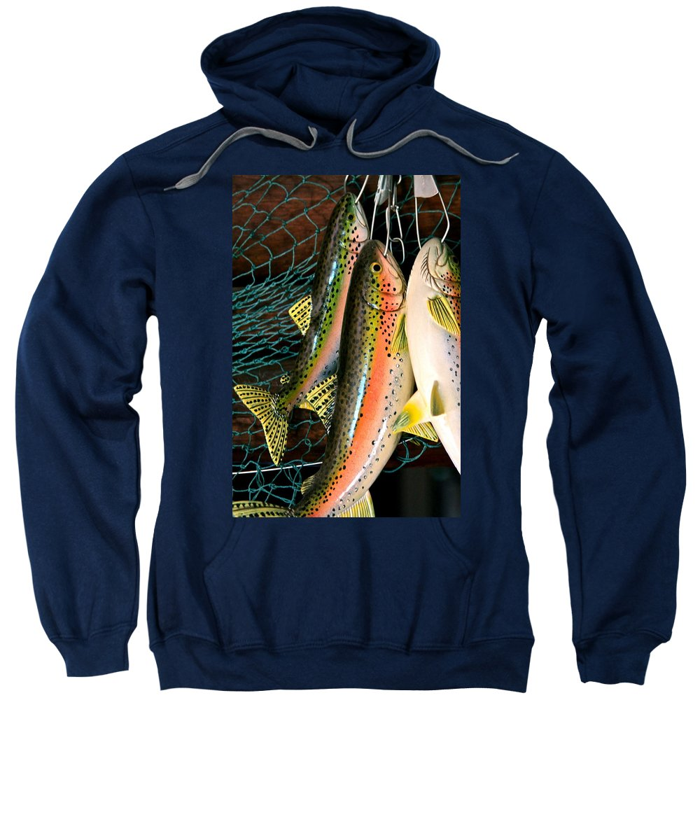 Still Life Sweatshirt featuring the photograph Catch Of The Day by Karon Melillo DeVega
