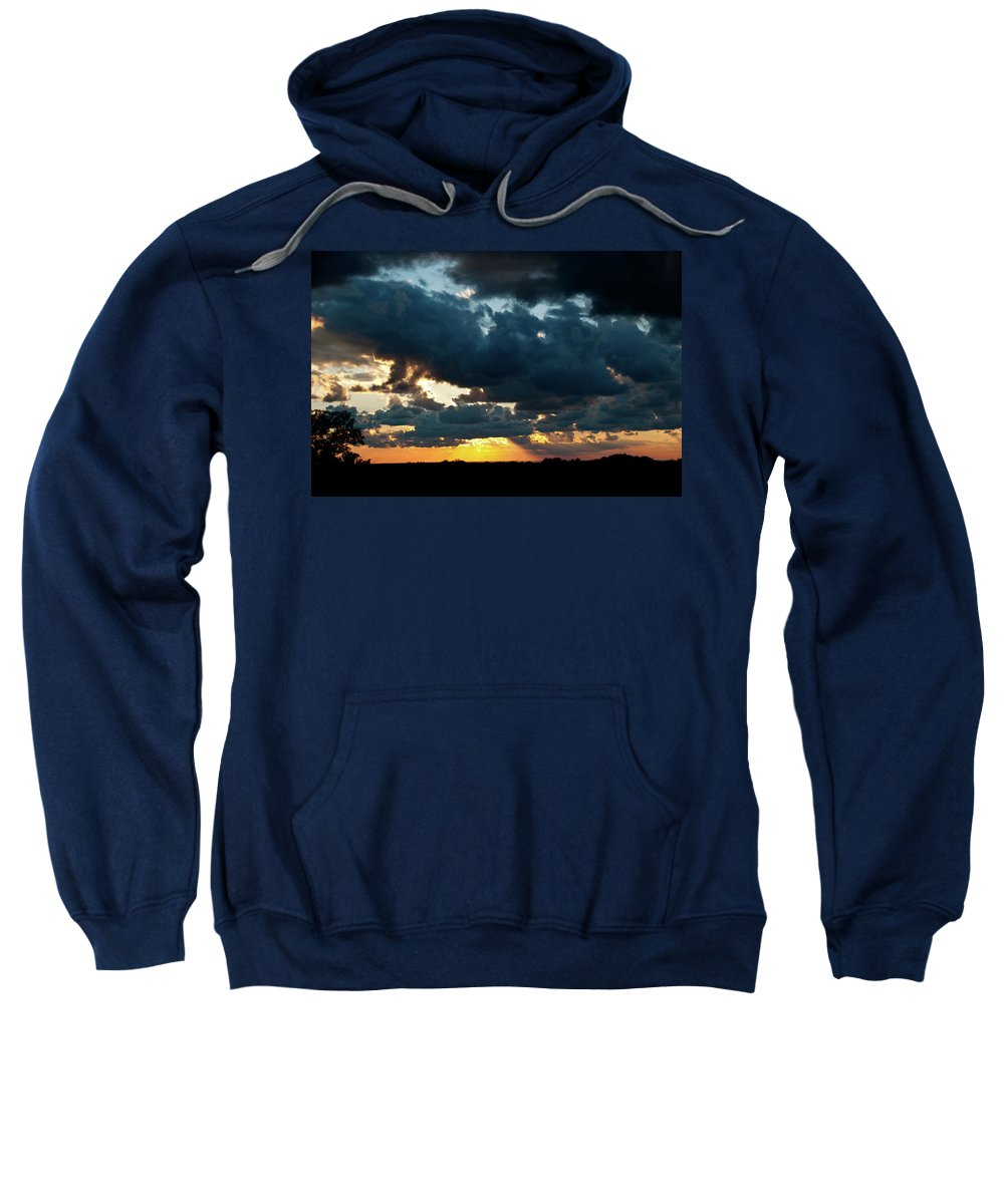 Sunrise Sweatshirt featuring the photograph Chestnut Ridge Sunset 2642 by Guy Whiteley