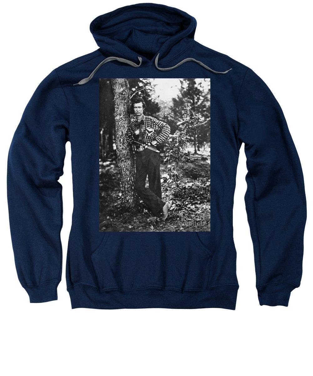 1861 Sweatshirt featuring the photograph Civil War: Soldier, 1861 by Granger