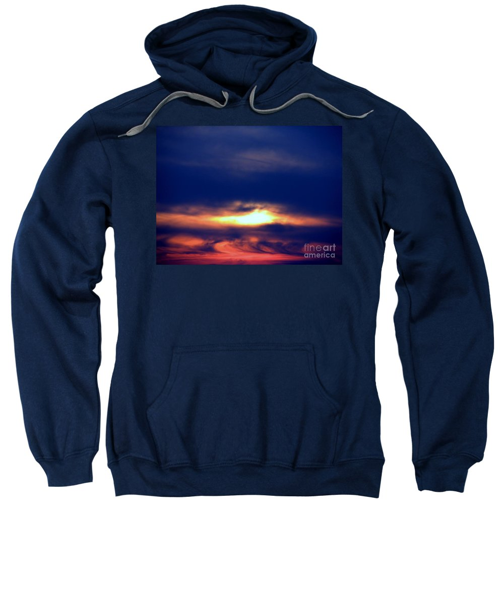 Sunset Sweatshirt featuring the photograph Color Explosion by Art Dingo