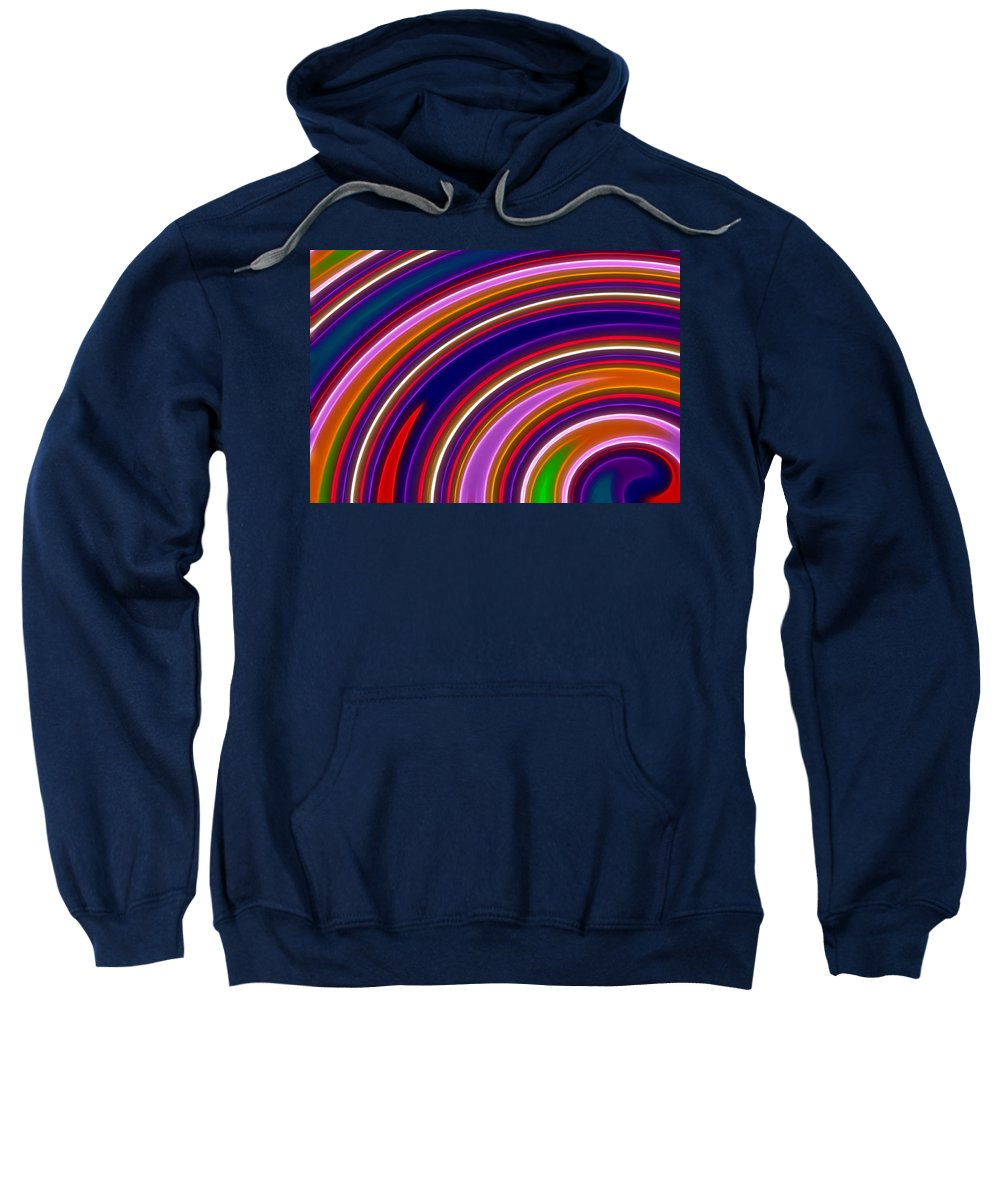 Abstract Sweatshirt featuring the digital art Colorful Swirls by Ricky Barnard