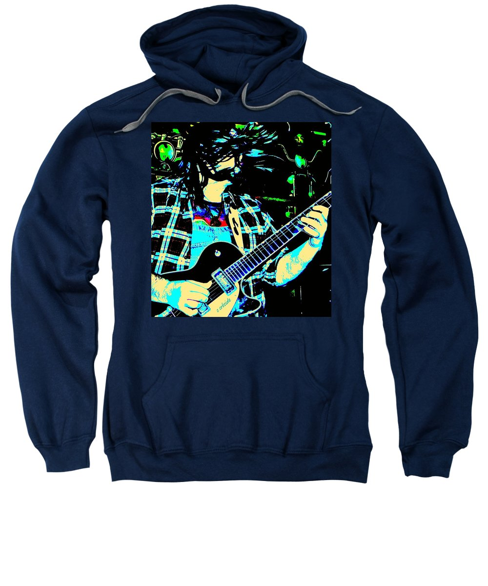 Band Sweatshirt featuring the photograph Coyote Bill by Chris Berry