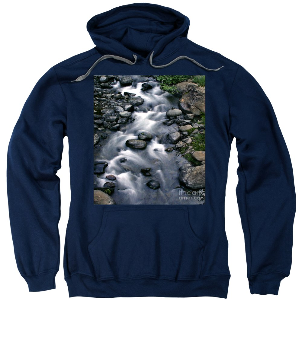 Creek Sweatshirt featuring the digital art Creek Flow Panel 3 by Peter Piatt