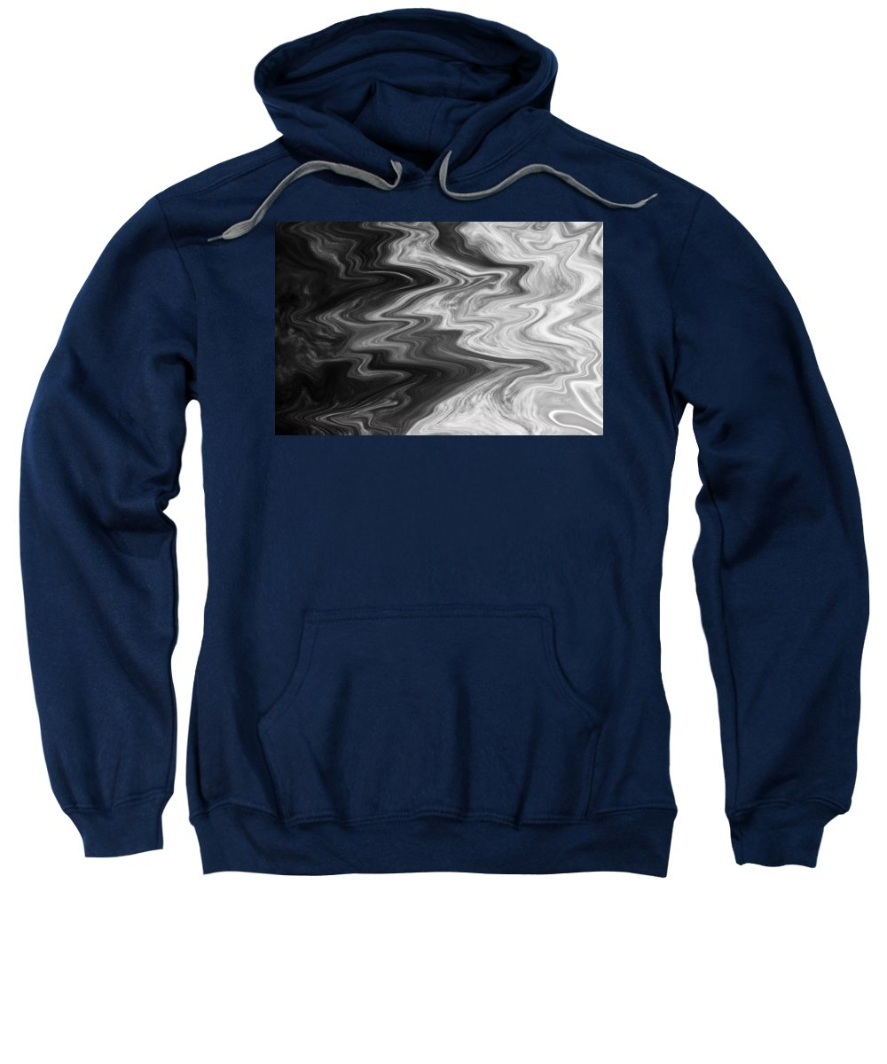 Clouds Sweatshirt featuring the digital art Digital Cloud Abstract by David Pyatt