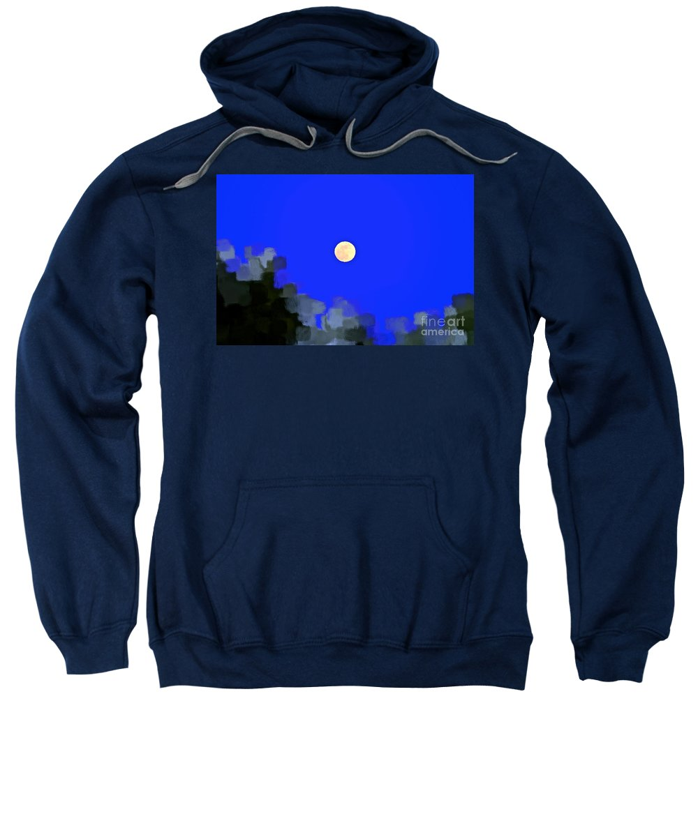Moon Sweatshirt featuring the photograph Distortion by Gwyn Newcombe