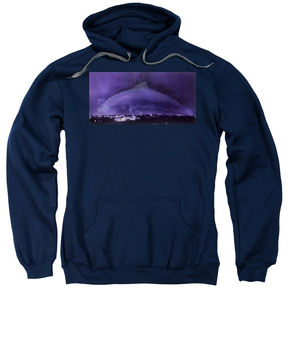 Dolphin Sweatshirt featuring the mixed media Dolphin Sky by Beverly Restelle