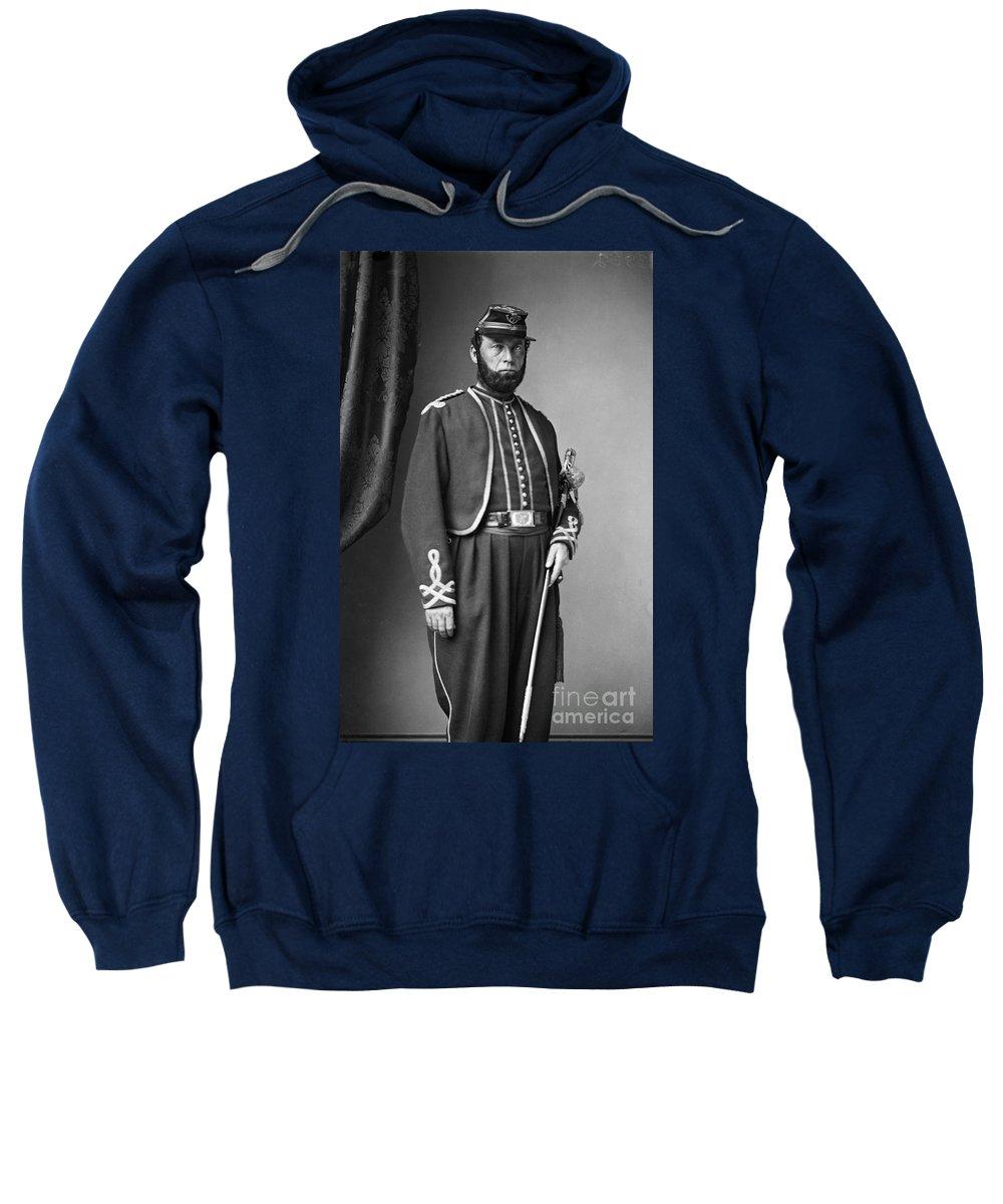 1862 Sweatshirt featuring the photograph Edgar A. Kimball (1822-1863) by Granger