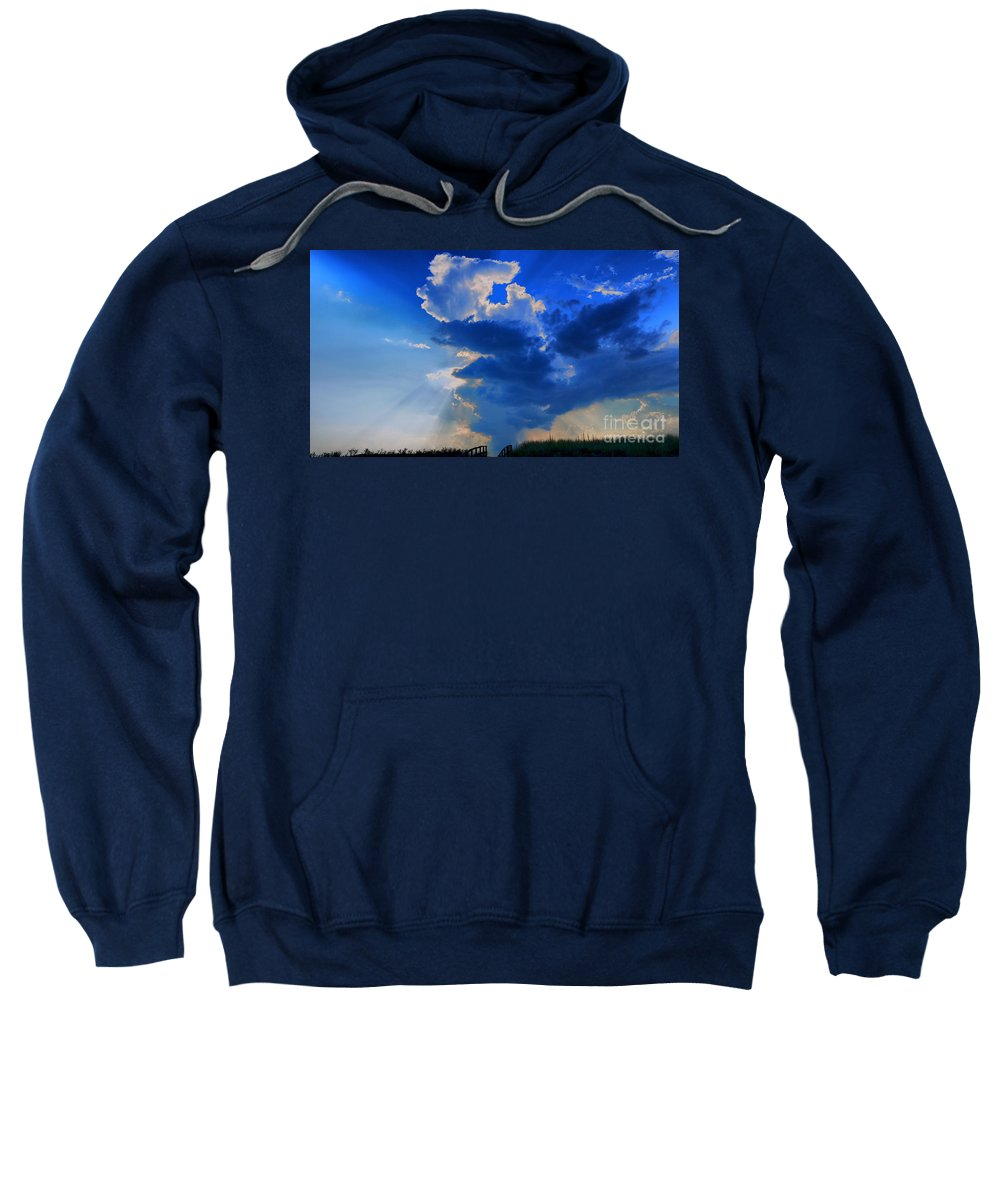Clouds Sweatshirt featuring the photograph Face In The Cloud by Nancie DeMellia