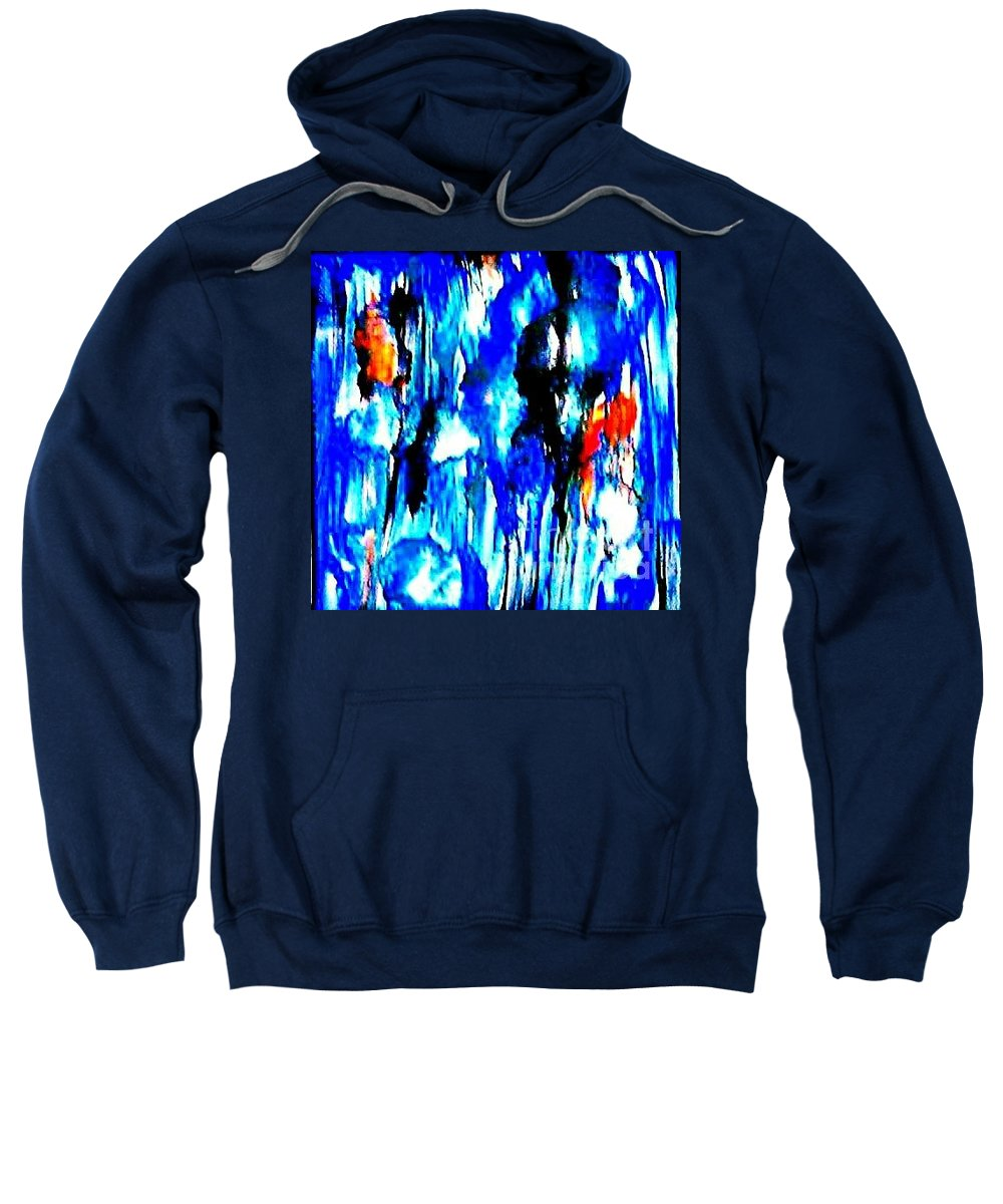 Sweatshirt featuring the painting Fallic Breeze by Milisa Miner