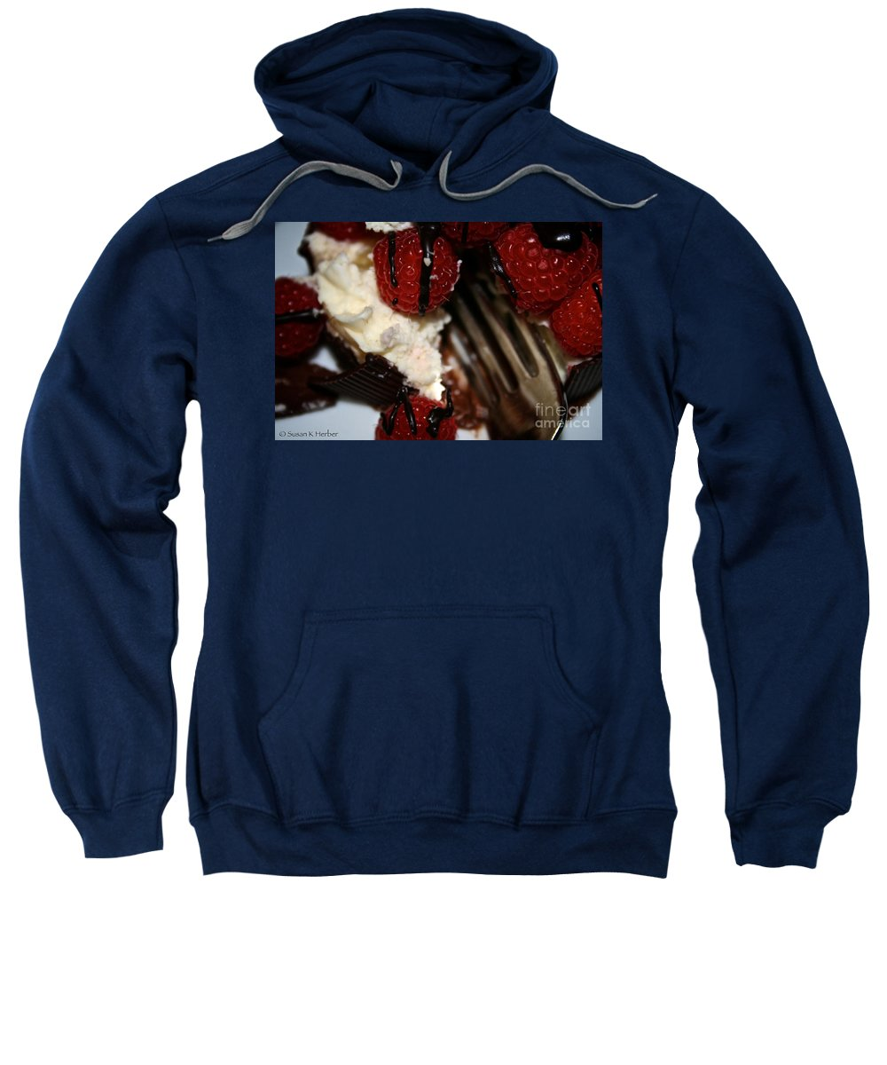 Food Sweatshirt featuring the photograph First Taste by Susan Herber