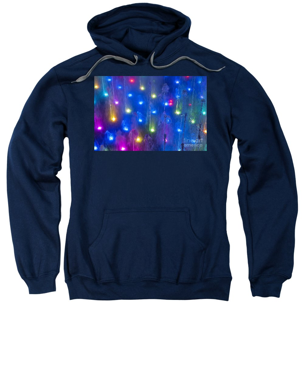 Fountain Sweatshirt featuring the photograph Fountain Of Color by John Greim