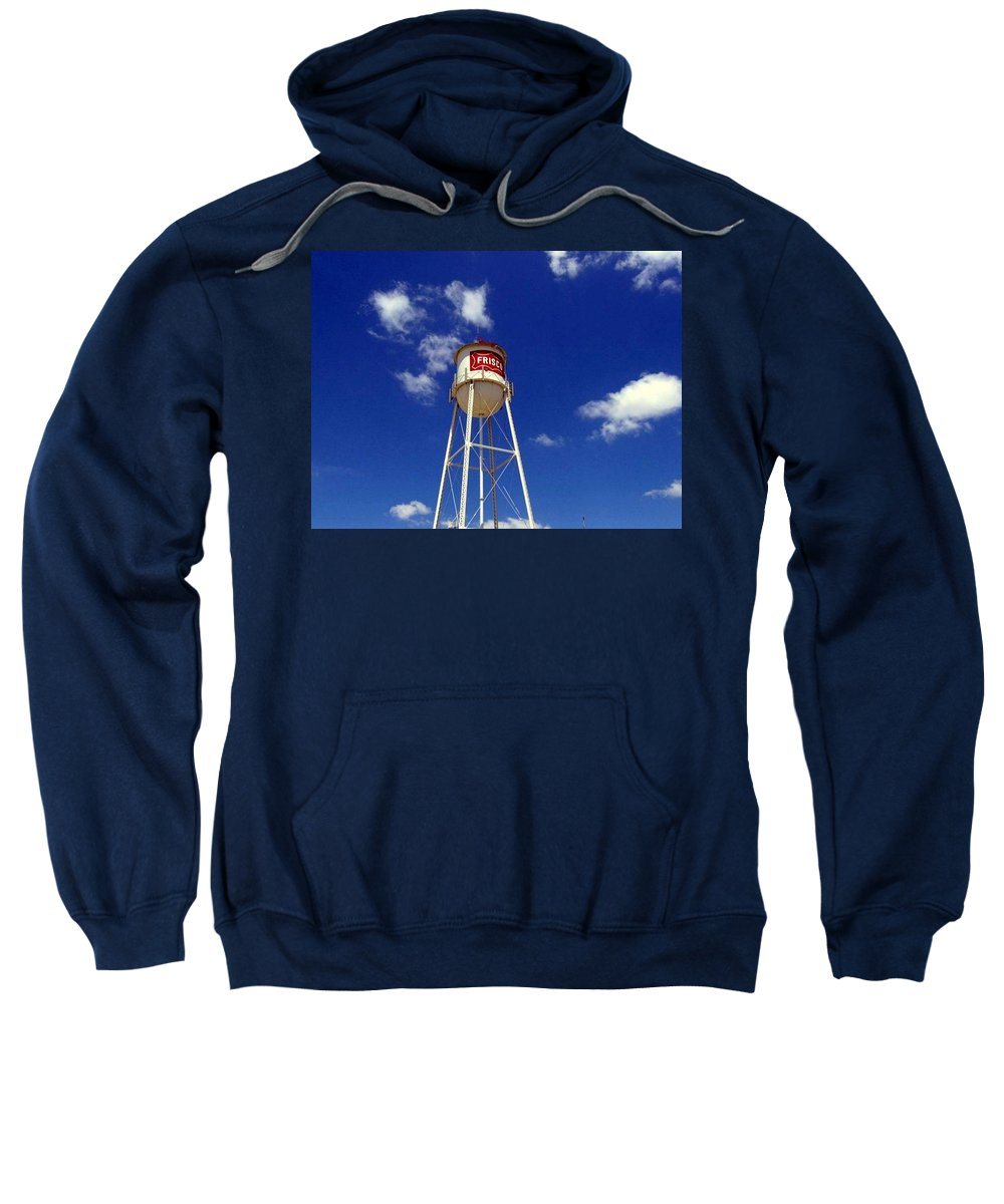Sweatshirt featuring the photograph Frisco Texas Water Tower by Amy Hosp