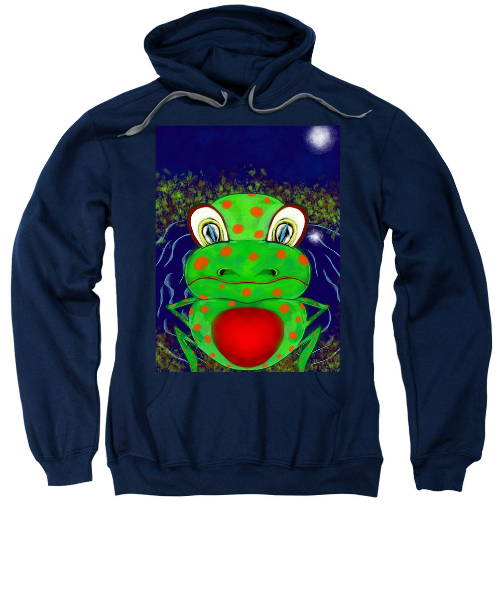 Sweatshirt featuring the digital art Frog by Mathieu Lalonde