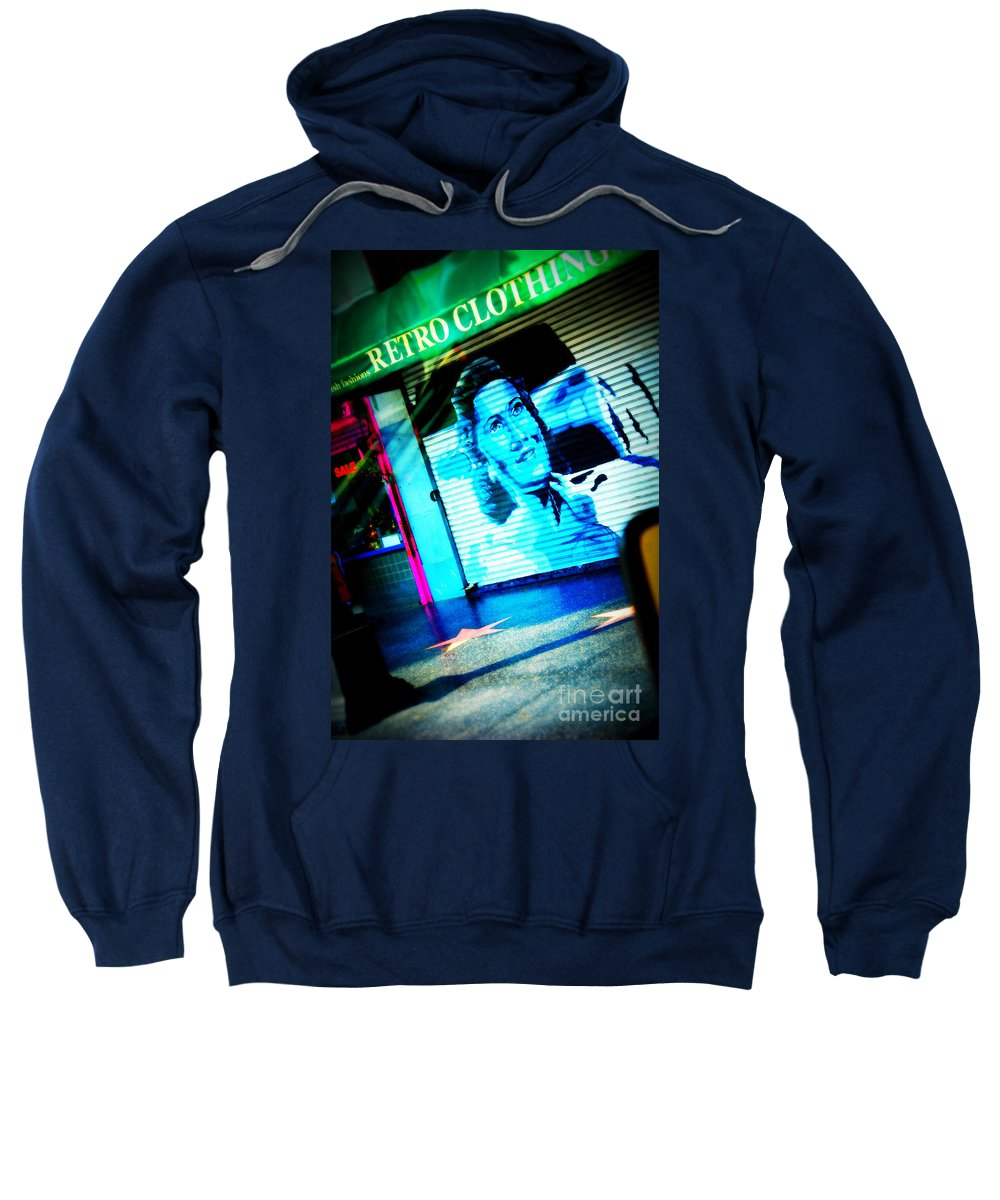 Stars Sweatshirt featuring the photograph Grab A Star On Sunset Boulevard In Hollywood by Susanne Van Hulst