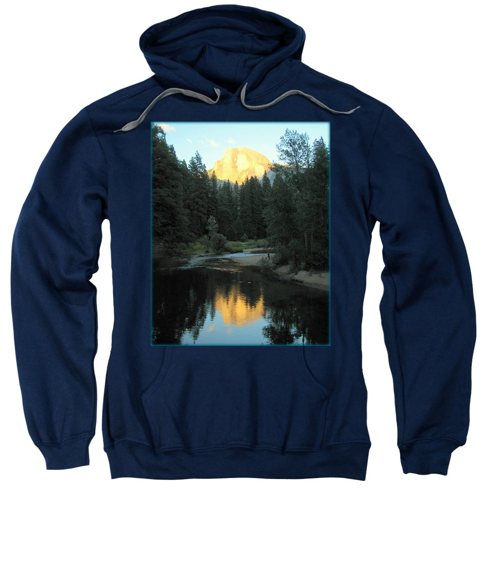 Yosemite Sweatshirt featuring the photograph Half Dome Reflection by Carla Parris