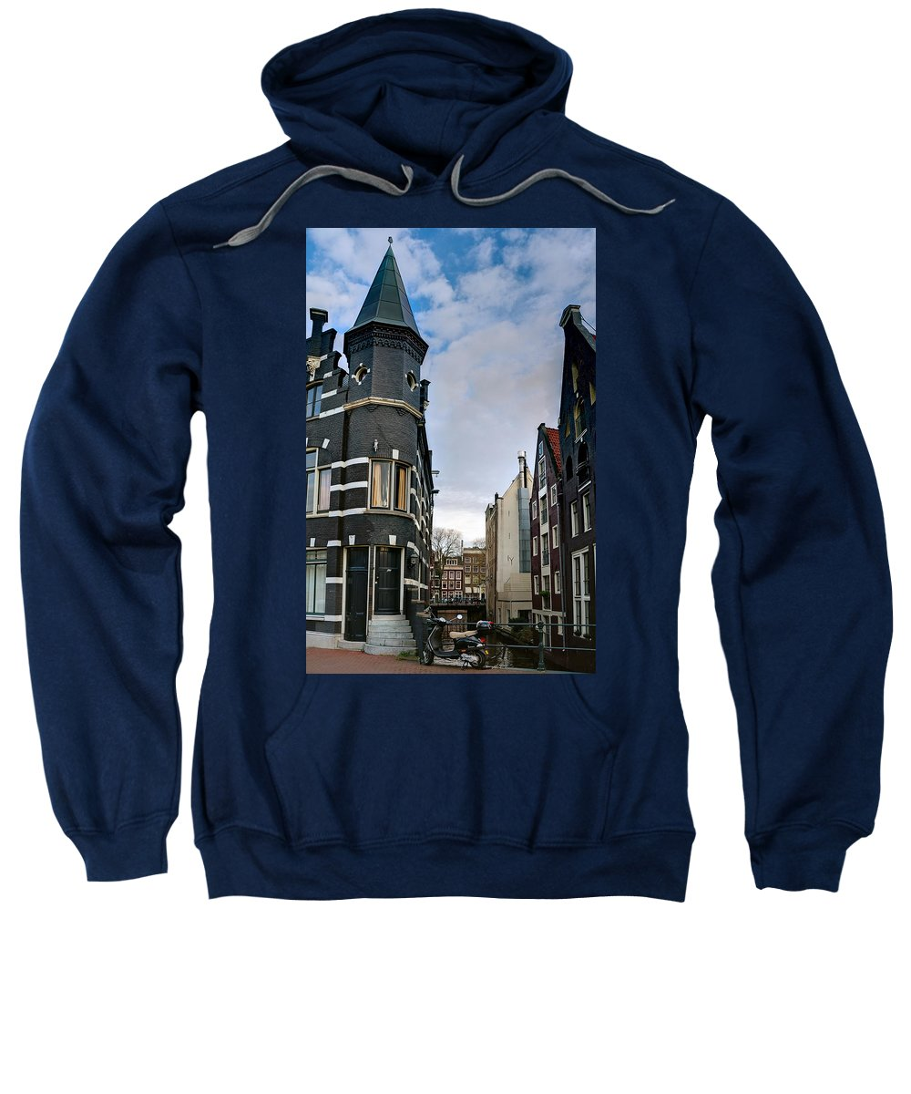 Holland Amsterdam Sweatshirt featuring the photograph Herengracht 395. Amsterdam by Juan Carlos Ferro Duque