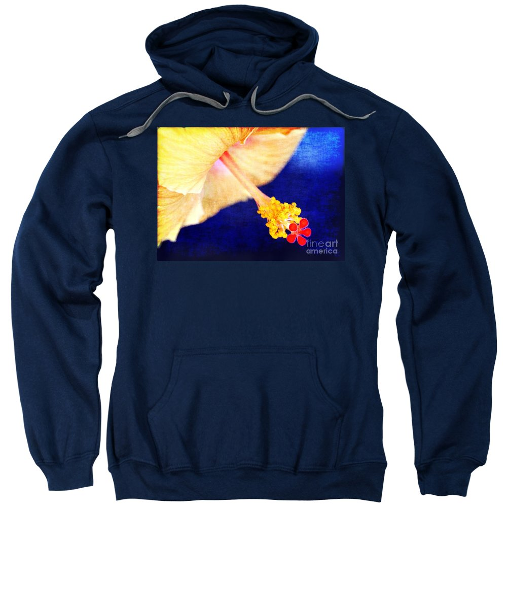 Hibiscus Sweatshirt featuring the photograph Hibiscus by Judi Bagwell