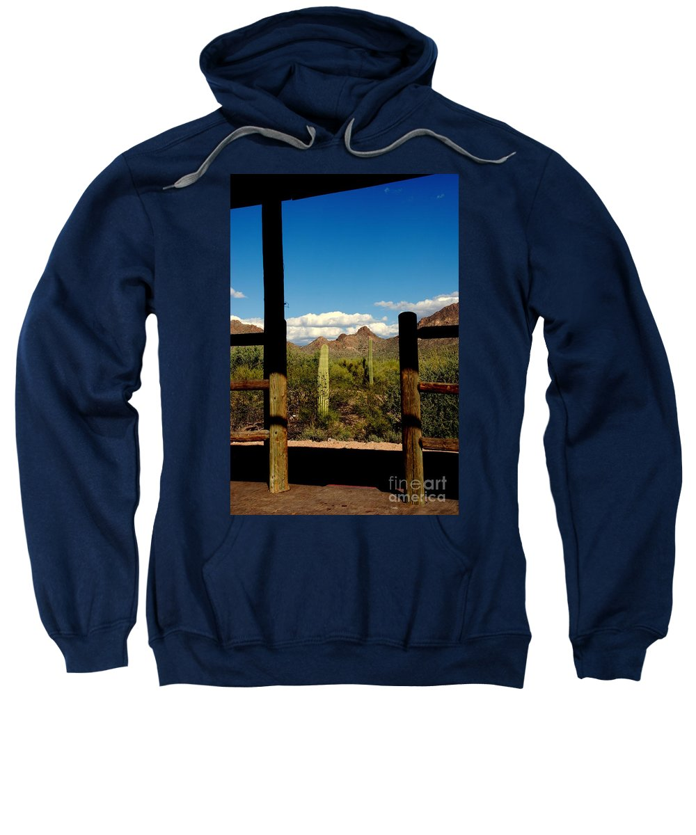 High Chaparral Sweatshirt featuring the photograph High Chaparral Old Tuscon Arizona by Susanne Van Hulst